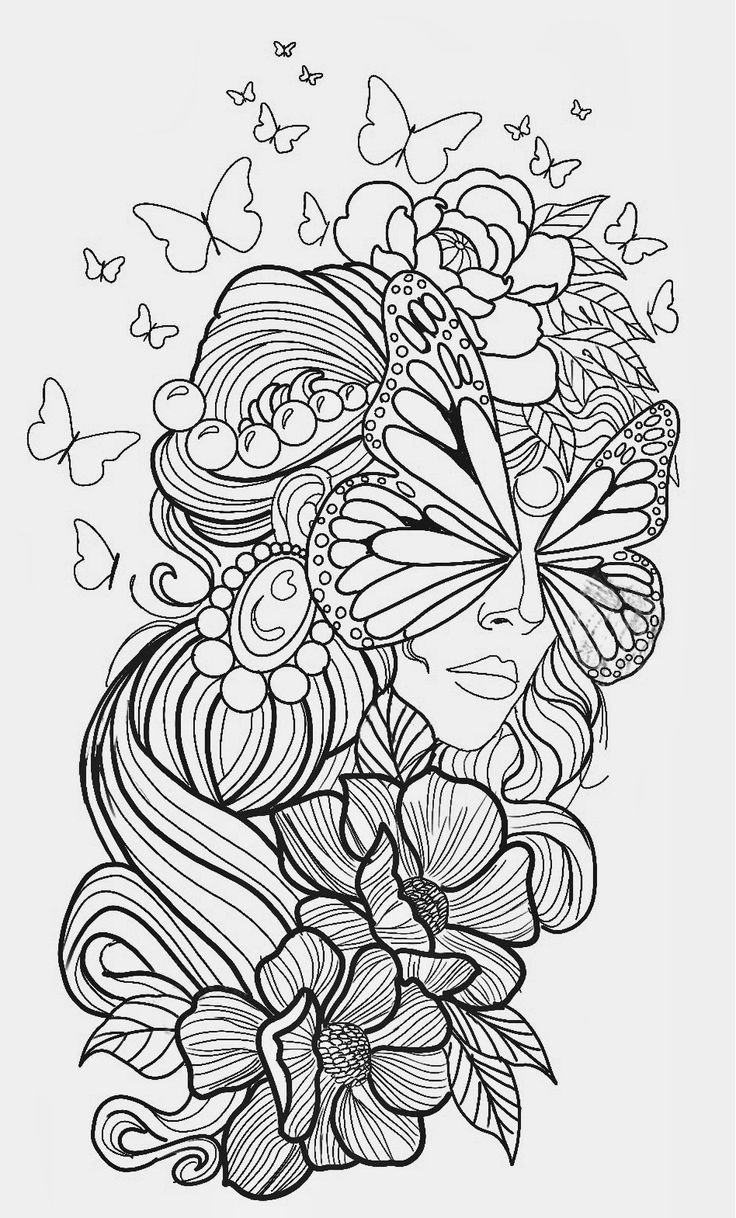 Pin by lailinda on fantasy women coloring pages   Book art