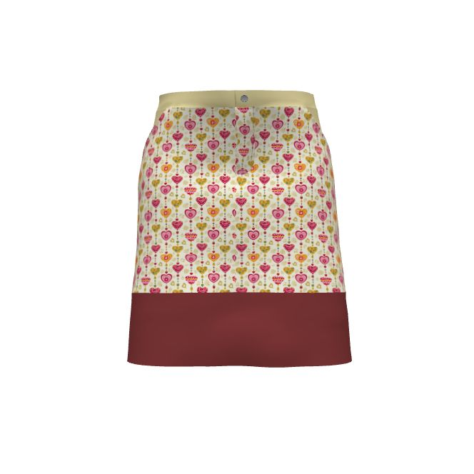 Grainline Studio Moss Skirt Made With Spoonflower Designs On Sprout  Patterns. Designs By Floramoon And