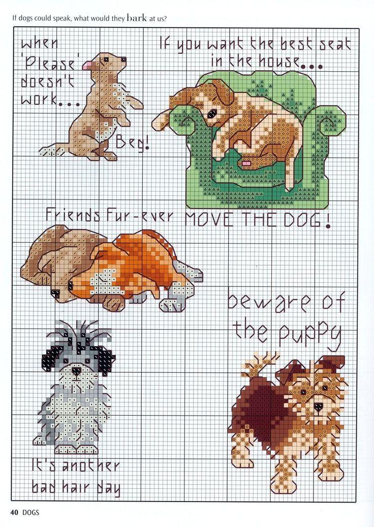 Cross Stitch Patterns Dogs Puppies