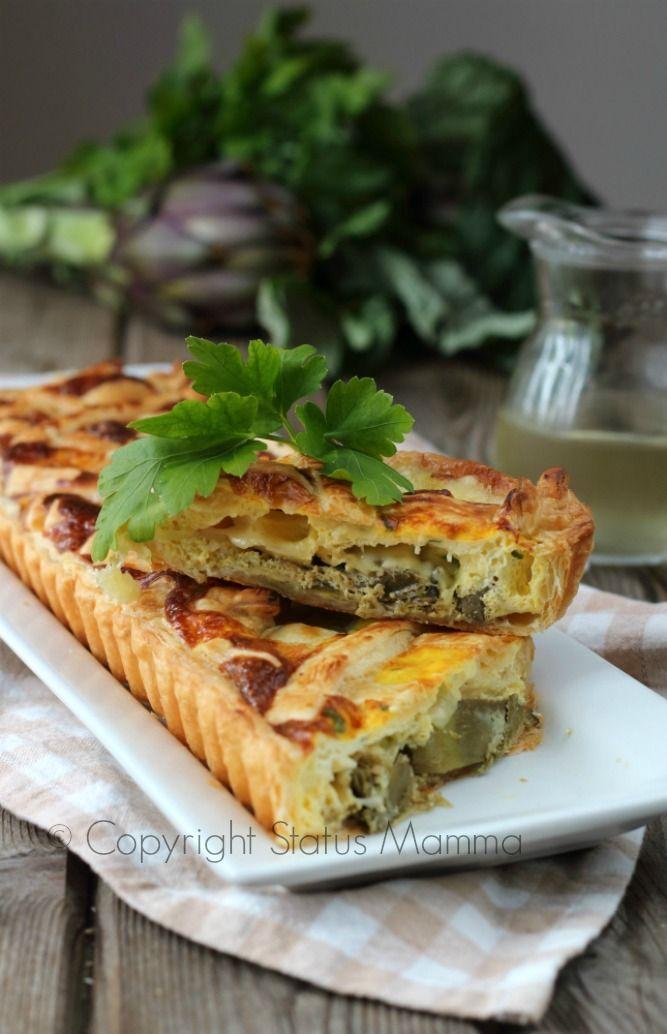 Torta salata di carciofi alla ligure