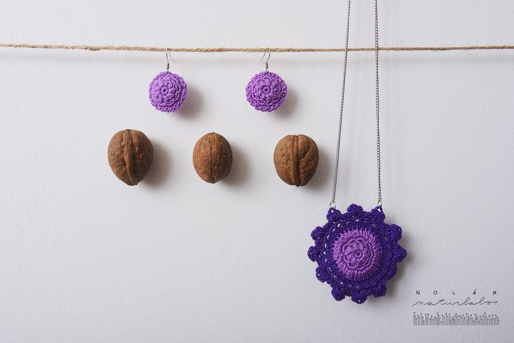 Lavender set, fragrance jewelry, organic, natural accessoires, herb filled necklace and earrings