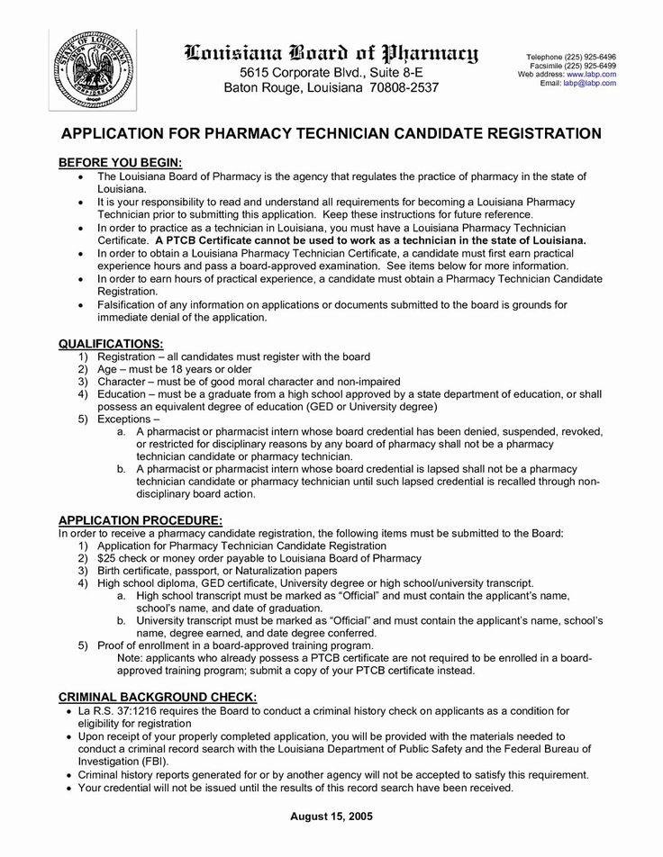 25 Certified Pharmacy Technician Resume in 2020 Job
