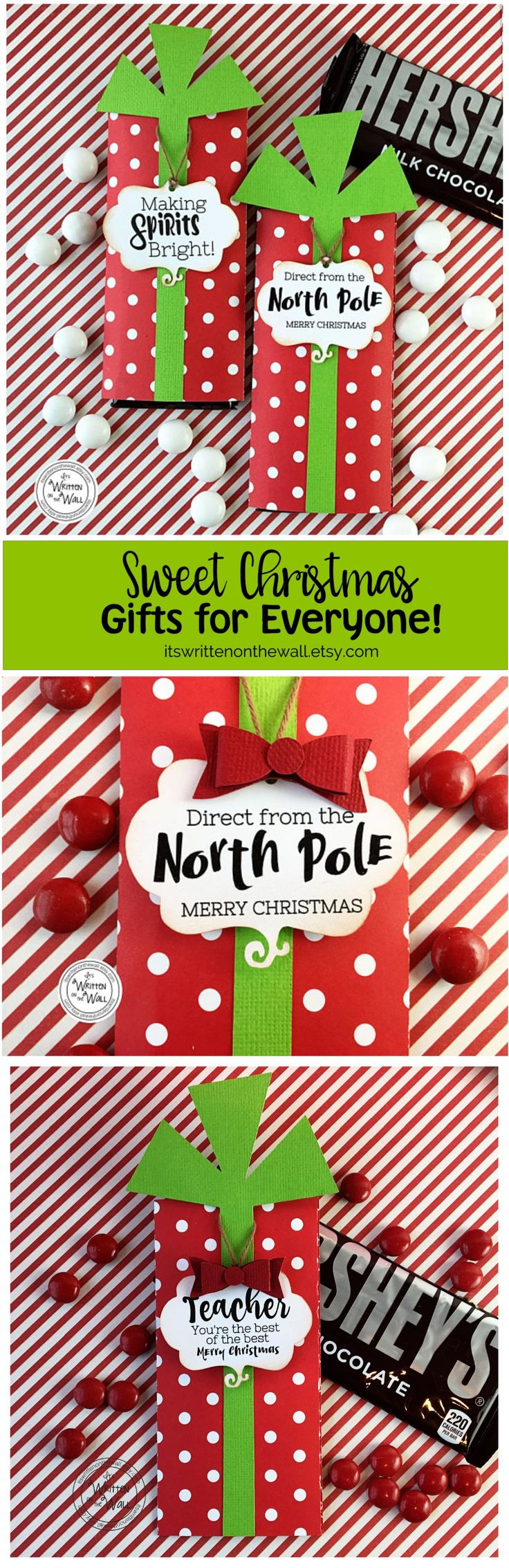 Wrap up a Hershey Bar for Co-Workers, Employees, Stocking Stuffers, Teachers, Party favors and more