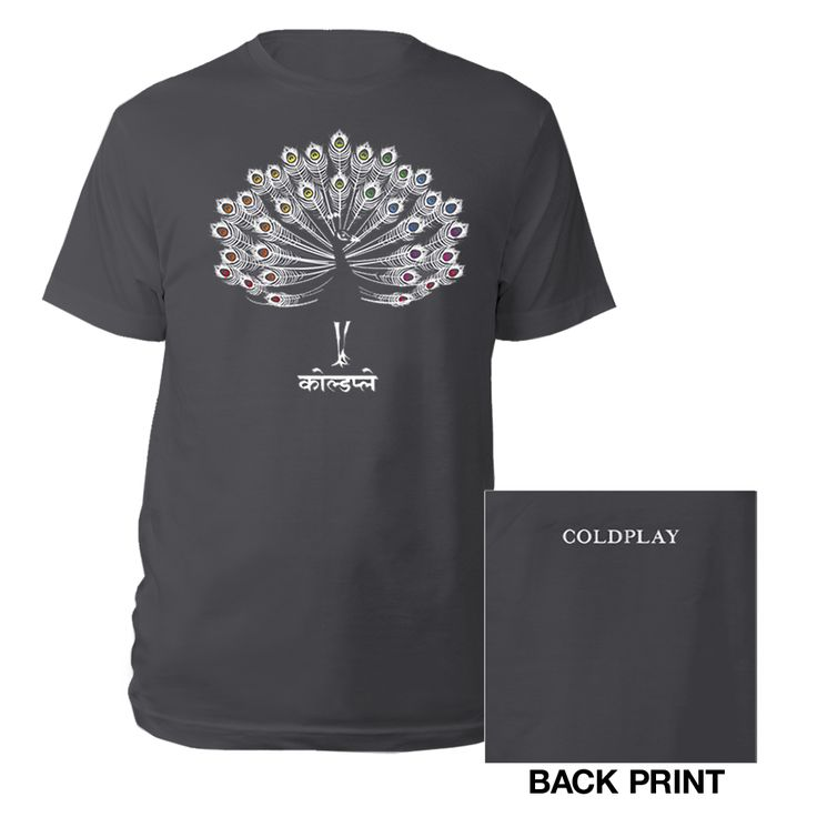 coldplay Peacock T-shirt