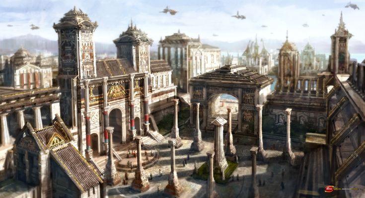 fantasy concept futuristic google architecture pesquisa locais fantasia villa kingdom rpg cidade sombria tibia