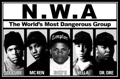 """Fuck the police…Comin' straight from the Underground"" rap hip hop nwa westcoast california"