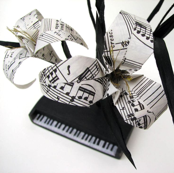 Beethoven's Piano Ikebana Origami Sculpture by Paper Disciple and Tanja Sova - pinned by pin4etsy.com