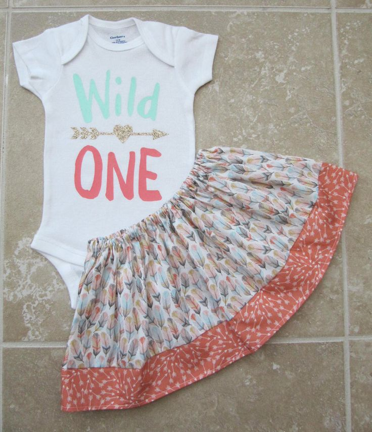 Pow Wow Princess First Birthday Outfit - onesie and skirt, girl birthday outfit, peach gold, arrow, feathers by noellebydesign on Etsy https://www.etsy.com/ca/listing/261664767/pow-wow-princess-first-birthday-outfit