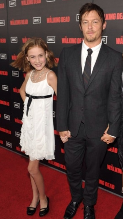 Norman also took Madison as his date to TWD Series premiere..thats so cute