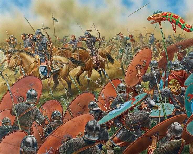 Batalla de los campos Catalaúnicos. Peter Dennis.