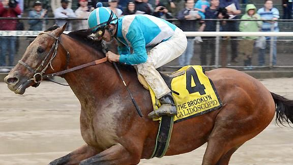 10-year-old Calidoscopio wins G2   Brooklynhttp://espn.go.com/horse-racing/story/_/id/9354076/deep-closing-calidoscopio-captures-brooklyn