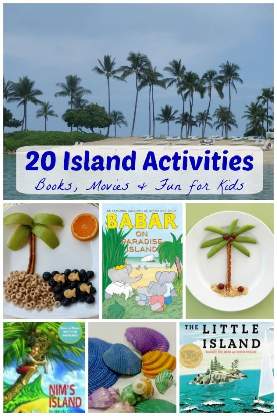 Have fun hosting an Island Day with the kids!  Great books, snacks, movies & island crafts -- what a fun thing to do in the middle of winter!