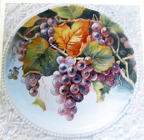 Punchy Grapes | ARTchat - Porcelain Art Plus (formerly Chatty Teachers Artists)