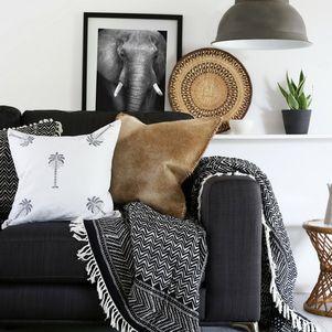 Island Palm Cushion Cover