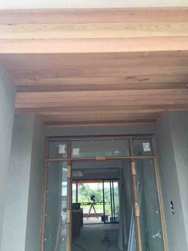 red cedar entry lining