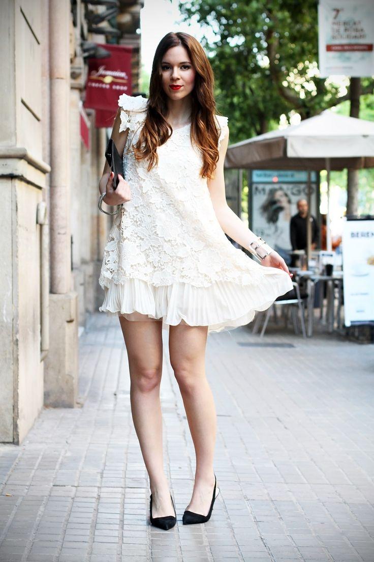 Un look romantico per il fashion show Pronovias a Barcellona