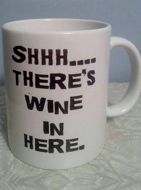 Shhhh ... There's Wine in Here Mug