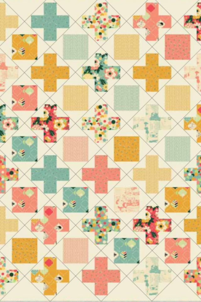 Free and fat quarter friendly quilt pattern from Riley Blake designs :)