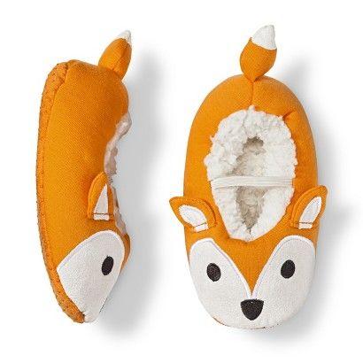 Infant Toddler Fox Slipper Socks - Orange