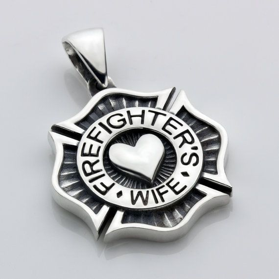 Fire Department Maltese Cross Necklace: 19 Best Firefighter Sterling Silver Jewelry Images On