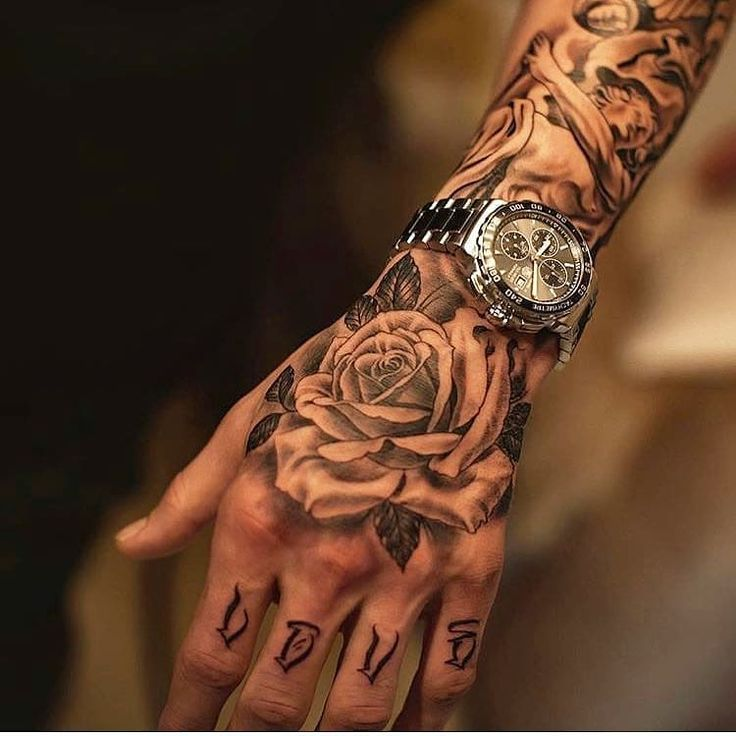Beautiful hand rose tattoo! Artist IG: Степан Милованов _______ …