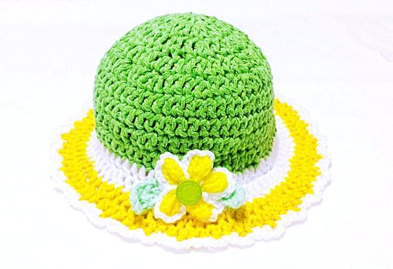 Check out this item in my Etsy shop https://www.etsy.com/ca/listing/268642642/spring-baby-hat-easter-crochet-bonnet