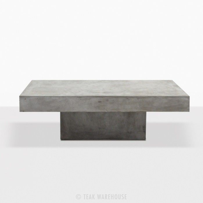 Square Coffee Table Concrete Straight Coffee Table Concrete