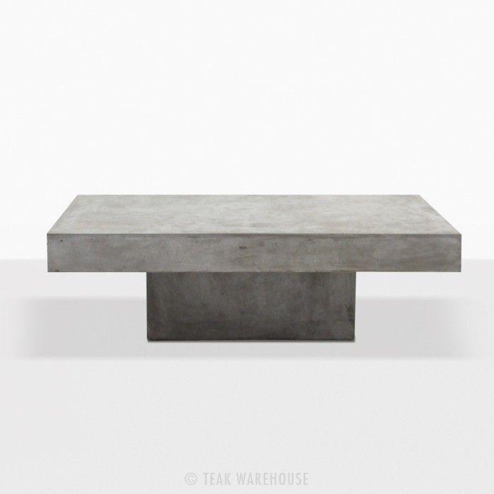 Square Coffee Table Concrete Straight