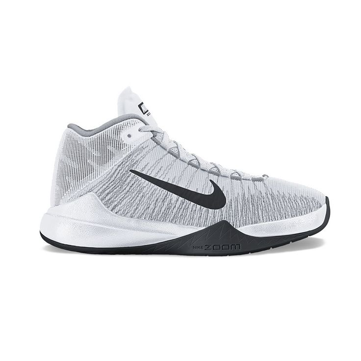 Nike Zoom Ascension Men's Basketball Shoes, Size: 8.5, White