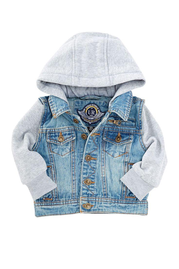 Urban Republic | Denim & Fleece Jacket (Baby Boys) | Nordstrom Rack