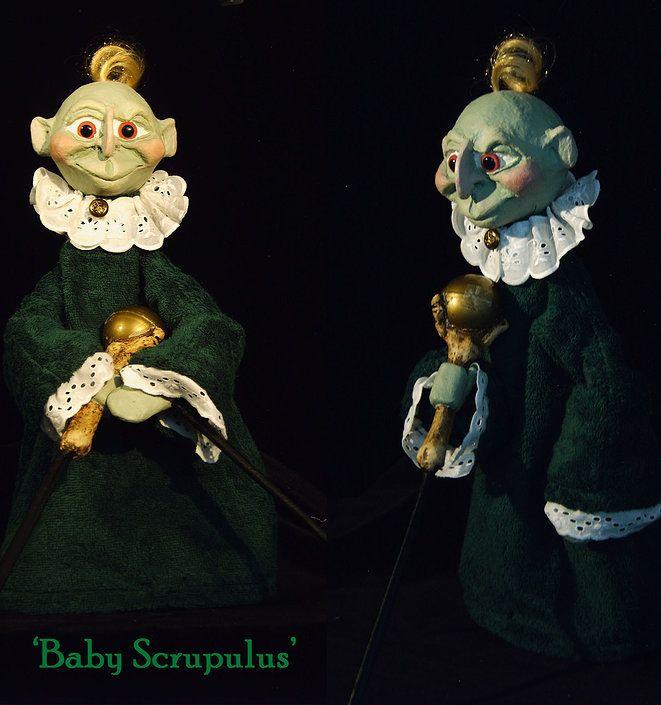 Baby Scrupulus... Een stokpop gemaakt door Thomas Weber voor een toekomstige productie van Theater Didymus met (mascotte) Tom Teerlink in de hoofdrol.