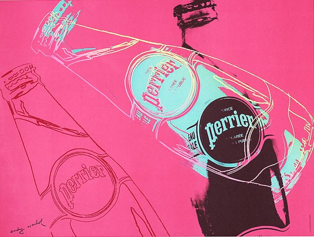 Andy Warhol, Perrier - 1983. #perrier #warhol