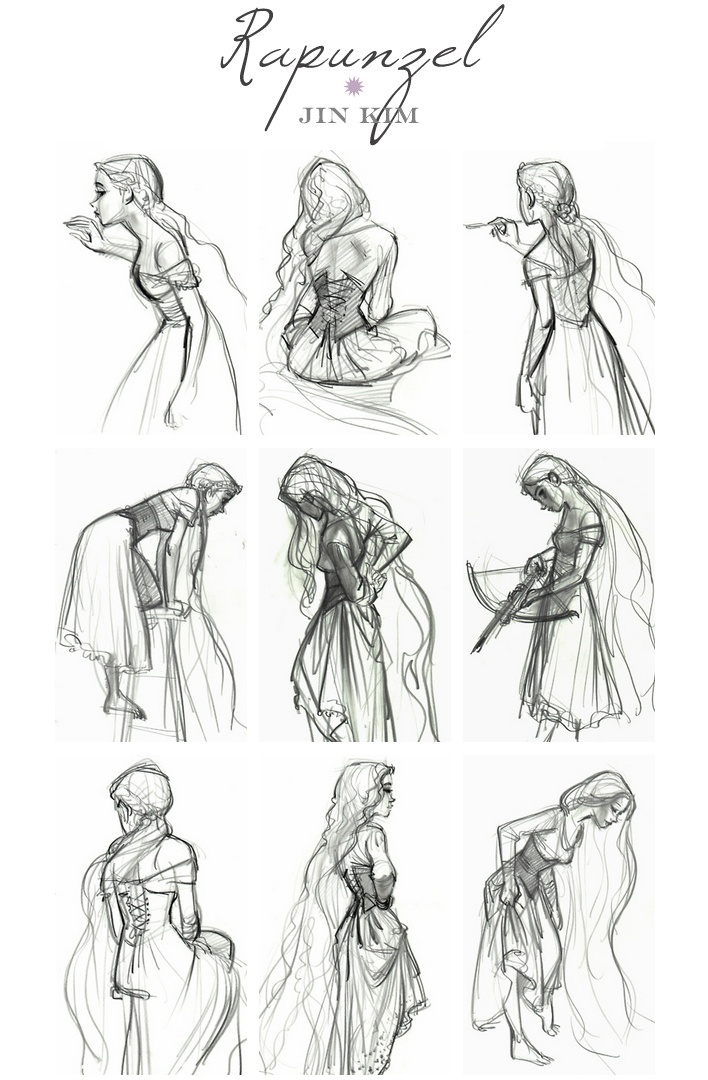 Rapunzel Concept Art By Jin Kim