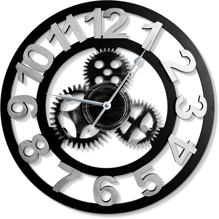 Ahşap Çarklı Büyük Duvar Saati Modeli, Ahşap Çarklı Büyük Duvar Saati ModeliÜrün Bilgisi ;Ürün maddesi : AhşapDekoratif ahşap ürünüdür.Saatin görünümü büyük mekanizma görünümlü