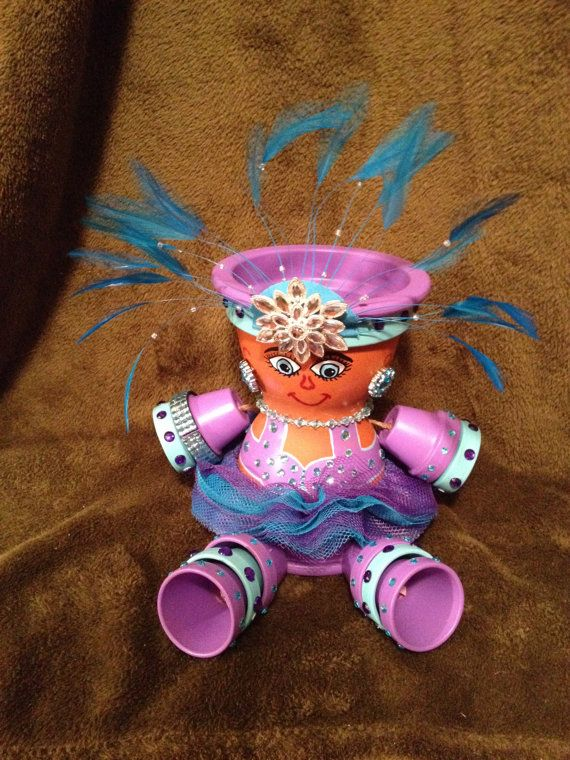 Fancy lady custom pot people by MurphyJune on Etsy, $50.00