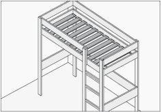 Hágalo Usted Mismo - ¿Cómo construir una cama en altura?                                                                                                                                                     Más