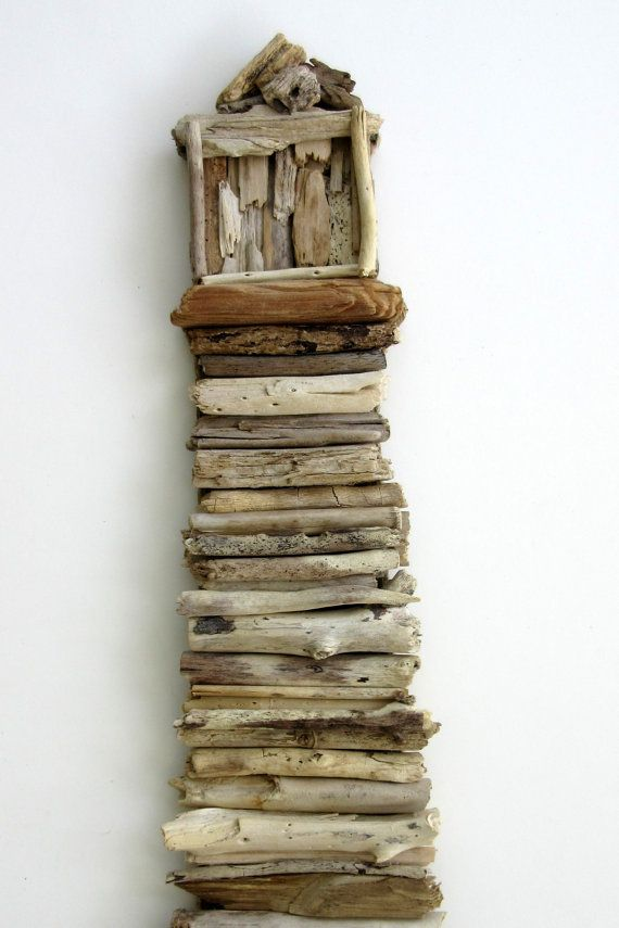 This beautiful driftwood lighthouse is made of natural driftwood found on the beaches of South Florida. Each piece of driftwood is hand selected and placed using hot glue onto plywood. A sawtooth hanger is attached for easy hanging. The edges of the plywood are finished using jute to complete the natural look. This piece measures 21 ½ x 10 ½ inches. Please contact me with any questions. Thanks for looking