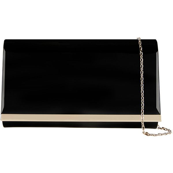Accessorize Patent Straight Bar Clutch Bag (1,595 DOP) ❤ liked on Polyvore featuring bags, handbags, clutches, chain handle handbags, accessorize purses, accessorize handbags, patent handbags and chain strap purse