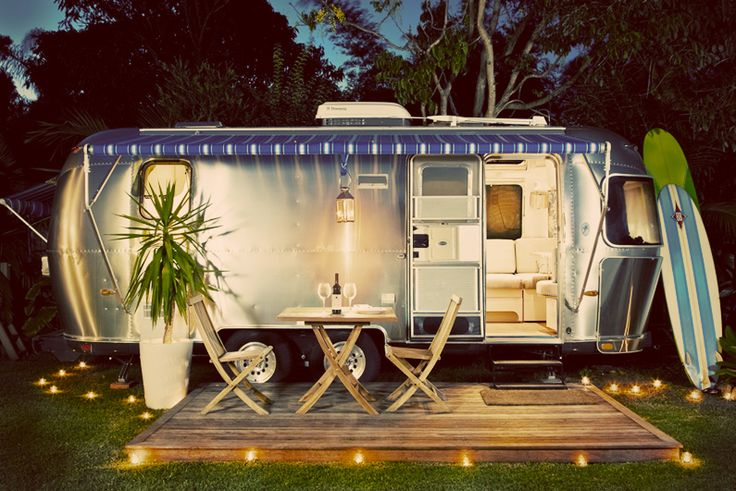 Airstream trailer.