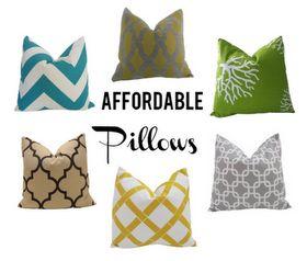 Bold, graphic throw pillows available on Amazon ( via TartHouse)