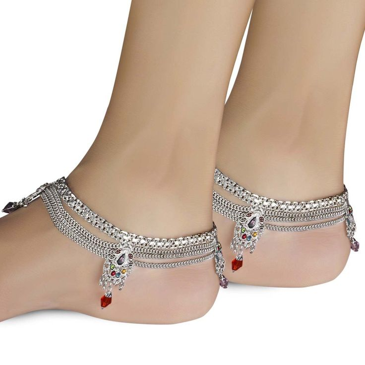Gold and Silver Anklet Designs For Indian Girls 2015-16