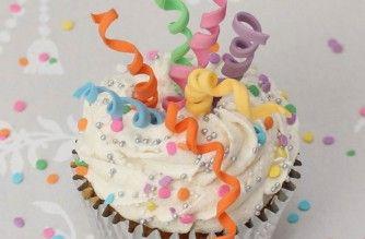 Party streamer cupcakes tutorial