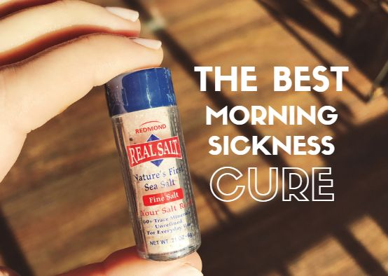 The Natural Cure for Morning Sickness!