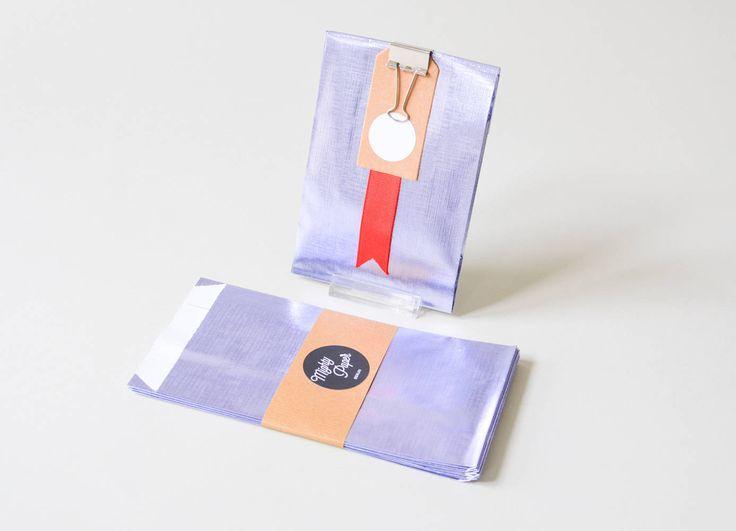 10 Papiertüten Metallic, Tüten Candy Bags, Geschenktüten metallic, metallic Flachbeutel Beutel V026 by MightyPaperShop on Etsy