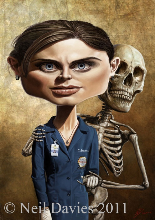 """Emily Deschanel - Bones - """"I've noticed that very few people are scary ONCE THEY'VE BEEN POKED IN THE EYE!!"""" Hah! Thought I'd die .."""
