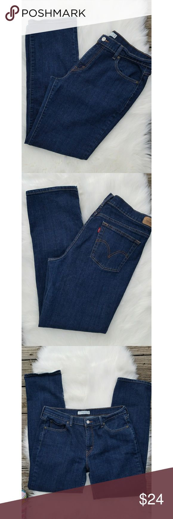 Levis 505 Straight Leg Jeans Levis 505 Jeans Straight Leg  Dark Wash  Size 14 New Without Tags Levi's Jeans Straight Leg