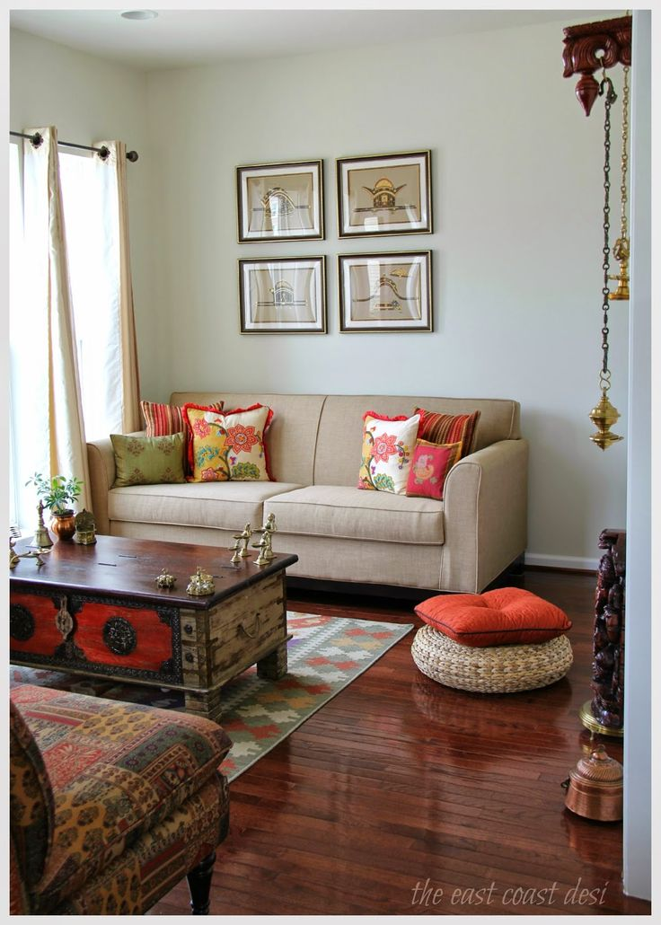 Metals like brass and copper instantly recognise a room as having Indian influences.