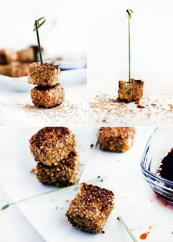 La vie de Julie (Des histoires de petits plats): Petites bouchées de tofu au sésame, miel et gingembre