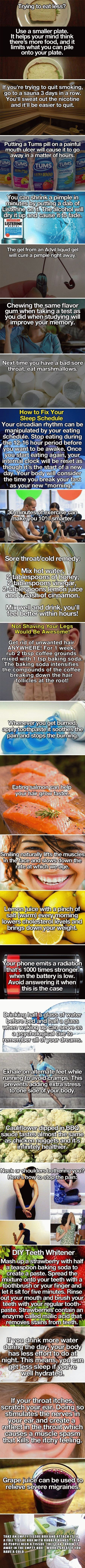 24 CREATIVE AND USEFUL HEALTH LIFE HACKS YOU CAN START TRYING NOW