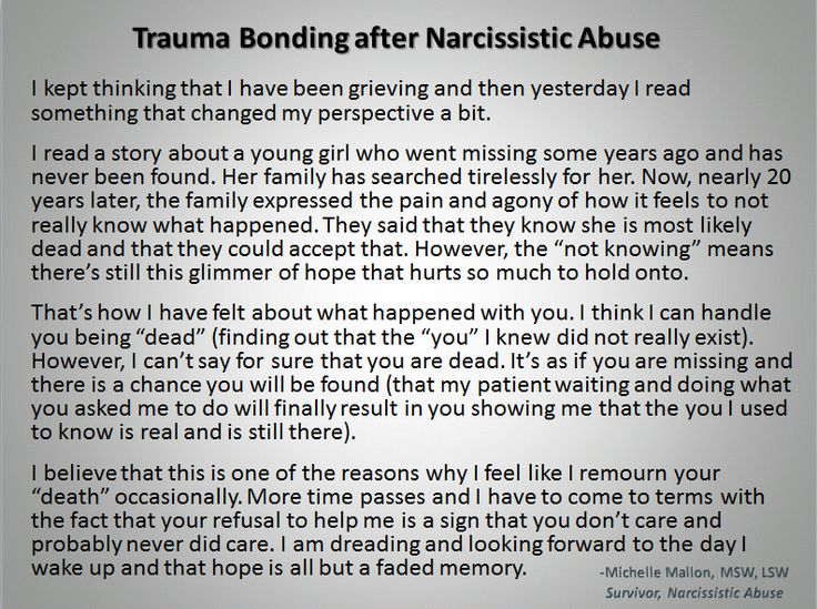 Milestones in healing after Narcissistic abuse: Learning what Trauma Bonding is